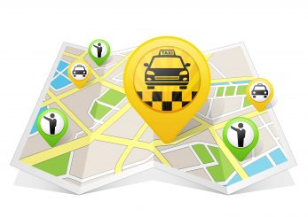 Taxi apps concept